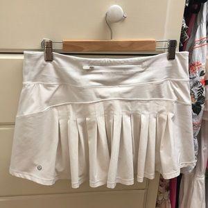 lululemon white circuit breaker skirt